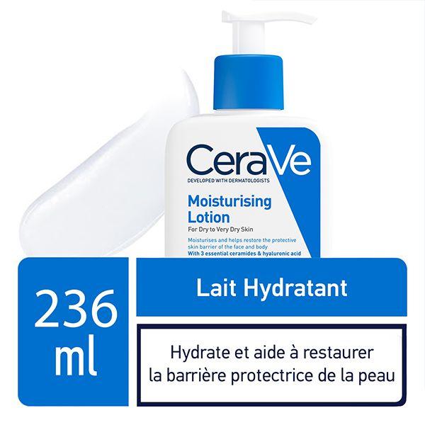 cerave lait hydratant leger peau seche a tres seche 236ml 1
